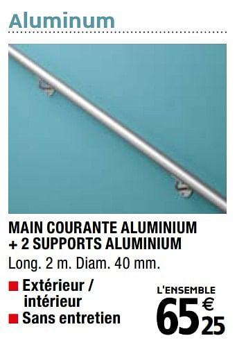 Promotion Brico Depot Main Courante Aluminium 2 Supports Aluminium Produit Maison Brico Depot Bricolage Valide Jusqua 4 Promobutler
