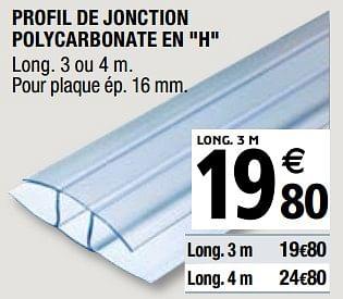 Promotion Brico Depot Profil De Jonction Polycarbonate En H Produit Maison Brico Depot Construction Renovation Valide Jusqua 4 Promobutler