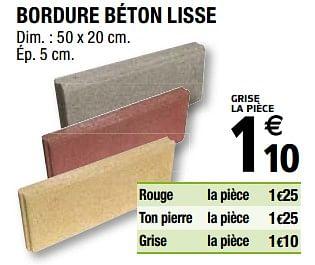 Promotion Brico Depot Bordure Beton Lisse Produit Maison Brico Depot Construction Renovation Valide Jusqua 4 Promobutler