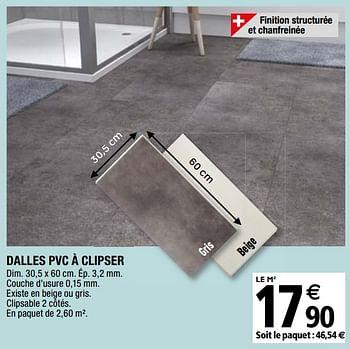 Promotion Brico Depot Dalles Pvc A Clipser Produit Maison Brico Depot Construction Renovation Valide Jusqua 4 Promobutler