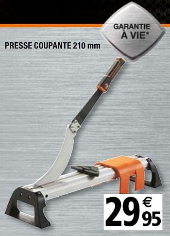 Promotion Brico Depot Presse Coupante 210 Mm Magnusson Bricolage Valide Jusqua 4 Promobutler