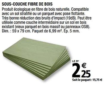 Promotion Brico Depot Sous Couche Fibre De Bois Diall Construction Renovation Valide Jusqua 4 Promobutler
