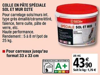 Promotion Brico Depot Colle En Pate Speciale Sol Et Mur D2te Mapei Bricolage Valide Jusqua 4 Promobutler