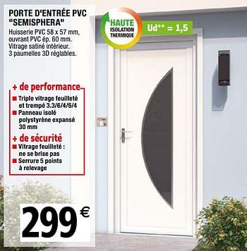 Promotion Brico Depot Porte D Entree Pvc Semisphera Produit Maison Brico Depot Construction Renovation Valide Jusqua 4 Promobutler