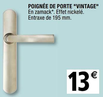 Promotion Brico Depot Poignee De Porte Vintage Produit Maison Brico Depot Construction Renovation Valide Jusqua 4 Promobutler