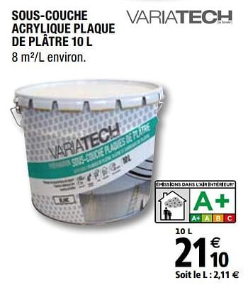 Promotion Brico Depot Sous Couche Acrylique Plaque De Platre Variatech Bricolage Valide Jusqua 4 Promobutler