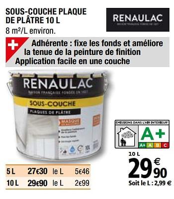 Promotion Brico Depot Sous Couche Plaque De Platre Renaulac Interieur Decoration Valide Jusqua 4 Promobutler