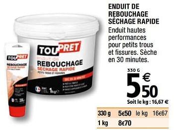 Promotion Brico Depot Enduit De Rebouchage Sechage Rapide Toupret Construction Renovation Valide Jusqua 4 Promobutler