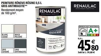 Promotion Brico Depot Peinture Renove Resine Gris Anthracit Renaulac Interieur Decoration Valide Jusqua 4 Promobutler