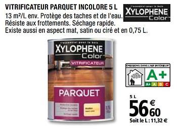 Promotion Brico Depot Vitrificateur Parquet Incolore Xylophene Bricolage Valide Jusqua 4 Promobutler
