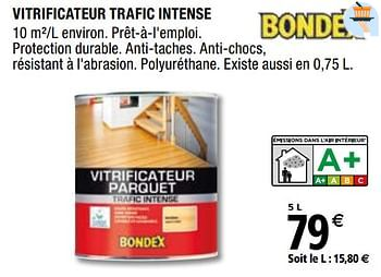 Promotion Brico Depot Vitrificateur Trafic Intense Bondex Bricolage Valide Jusqua 4 Promobutler