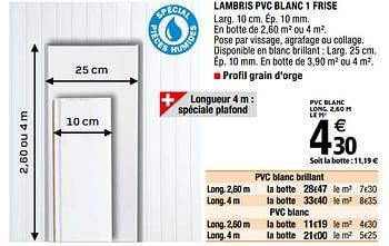 Promotion Brico Depot Lambris Pvc Blanc 1 Frise Produit Maison Brico Depot Interieur Decoration Valide Jusqua 4 Promobutler