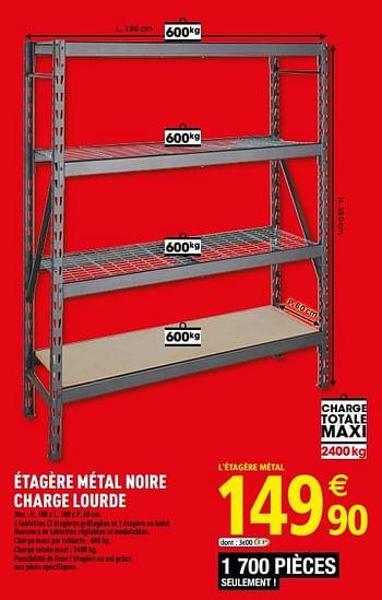 Promotion Brico Depot Etagere Metal Noire Charge Lourde Produit Maison Brico Depot Meubles Valide Jusqua 4 Promobutler