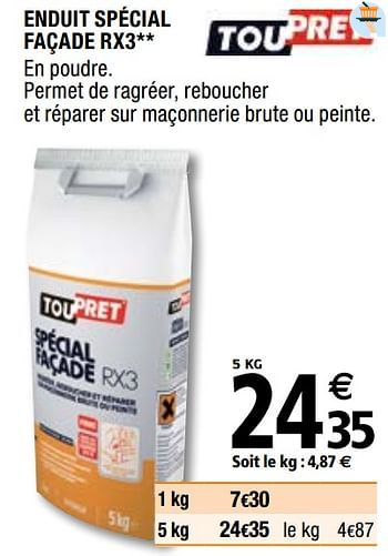 Promotion Brico Depot Enduit Special Facade Rx3 Toupret Bricolage Valide Jusqua 4 Promobutler