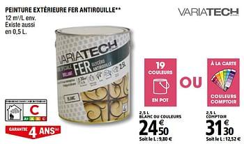 Promotion Brico Depot Peinture Exterieure Fer Antirouille Variatech Bricolage Valide Jusqua 4 Promobutler