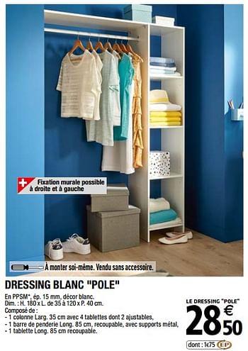 Promotion Brico Depot Dressing Blanc Pole Produit Maison Brico Depot Meubles Valide Jusqua 4 Promobutler