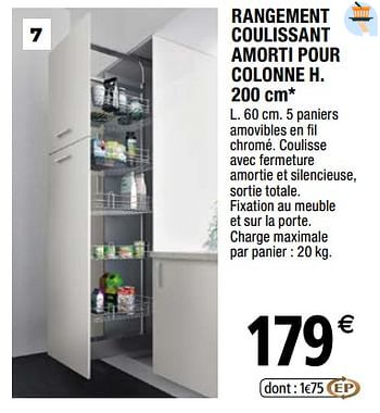 Rangement Coulissant Cuisine Brico Depot