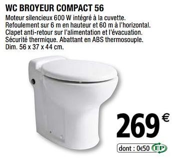 Promotion Brico Depot Wc Broyeur Compact 56 Produit Maison Brico Depot Construction Renovation Valide Jusqua 4 Promobutler