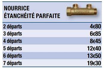 Nourrice Easylock Simple Indexable Et Auto Etanche 2 Sorties Brico Depot