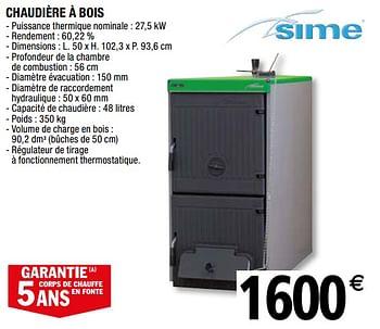 Promotion Brico Depot Sime Chaudiere A Bois Sime Chauffage Et Climatisation Valide Jusqua 4 Promobutler