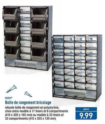 promotion Aldi: Boîte de rangement bricolage - Duro (Bricolage) - valide jusquà {4} - PromoButler