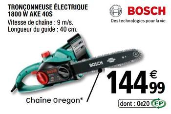 Promotion Brico Depot Bosch Tronconneuse Electrique 1800 W Ake 40s Bosch Jardin Et Fleurs Valide Jusqua 4 Promobutler