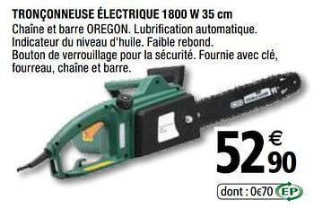 Promotion Brico Depot Tronconneuse Electrique 1800 W 35 Cm Produit Maison Brico Depot Jardin Et Fleurs Valide Jusqua 4 Promobutler