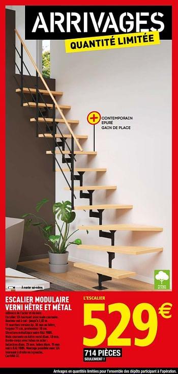 Promotion Brico Depot Escalier Modulaire Verni Hetre Et Metal Produit Maison Brico Depot Construction Renovation Valide Jusqua 4 Promobutler