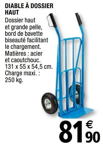 Promotion Brico Depot Diable A Dossier Haut Produit Maison Brico Depot Bricolage Valide Jusqua 4 Promobutler