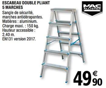 Promotion Brico Depot Escabeau Double Pliant 5 Marches Mac Allister Construction Renovation Valide Jusqua 4 Promobutler