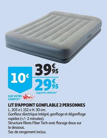 Promotion Auchan Ronq Lit D Appoint Gonflable 2 Personnes Intex Meubles Valide Jusqua 4 Promobutler