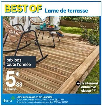 Promotion Castorama Lame De Terrasse En Pin Euphrate Blooma Jardin Et Fleurs Valide Jusqua 4 Promobutler