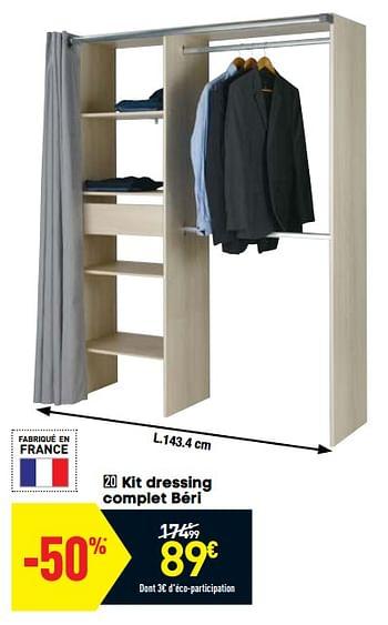 Promotion Conforama Kit Dressing Complet Beri Produit Maison Conforama Meubles Valide Jusqua 4 Promobutler