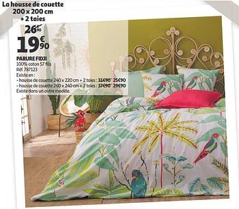Promotion Auchan Ronq Housse De Couette Parure Fidji Produit Maison Auchan Ronq Menage Valide Jusqua 4 Promobutler