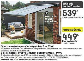 Promotion Castorama Store Banne Electrique Coffre Integral Produit Maison Castorama Jardin Et Fleurs Valide Jusqua 4 Promobutler