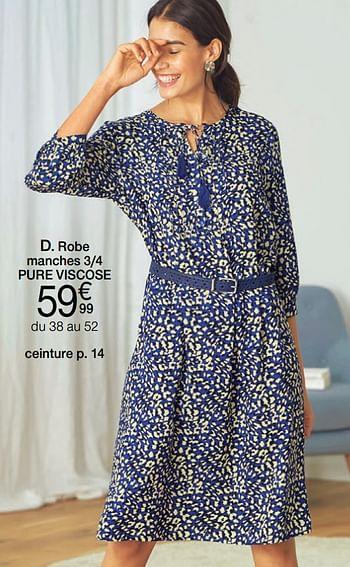 Promotion Damart Robe Manches 3 4 Pure Viscose Produit Maison Damart Fashion Valide Jusqua 4 Promobutler