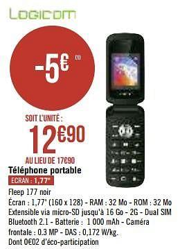 Promotion Geant Casino Logicom Telephone Portable Logicom Telecom Valide Jusqua 4 Promobutler