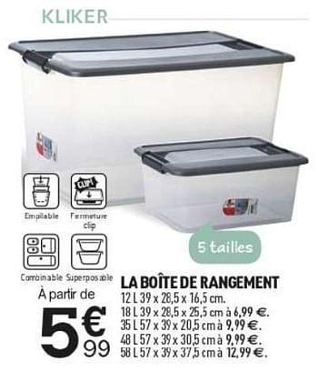Promotion Centrakor La Boite De Rangement Produit Maison Centrakor Menage Valide Jusqua 4 Promobutler