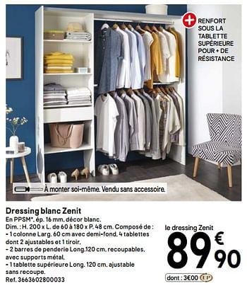Promotion Brico Depot Dressing Blanc Zenit Produit Maison Brico Depot Meubles Valide Jusqua 4 Promobutler