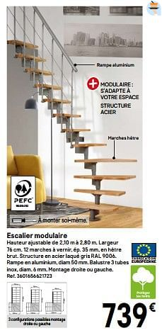 Promotion Brico Depot Escalier Modulaire Produit Maison Brico Depot Construction Renovation Valide Jusqua 4 Promobutler