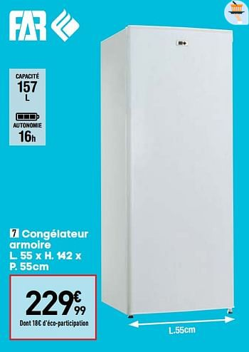 Promotion Conforama Far Congelateur Armoire Far Appareils Electriques Valide Jusqua 4 Promobutler