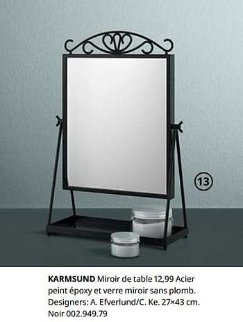 Promotion Ikea Karmsund Miroir De Table Produit Maison Ikea Cuisine Salle De Bain Valide Jusqua 4 Promobutler