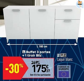Promotion Conforama Buffet 3 Portes 1 Tiroir Bliz Produit Maison Conforama Meubles Valide Jusqua 4 Promobutler