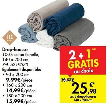 Promotion Carrefour Drap Housse Tex Menage Valide Jusqua 4 Promobutler