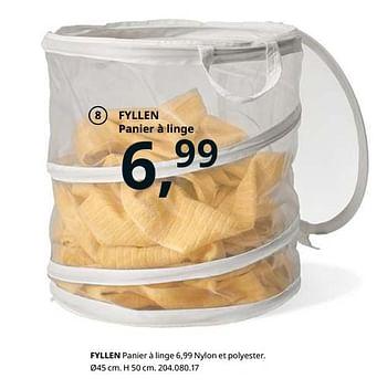 Promotion Ikea Fyllen Panier A Linge Produit Maison Ikea Menage Valide Jusqua 4 Promobutler