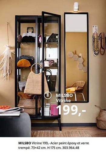 Promotion Ikea Milsbo Vitrine Produit Maison Ikea Meubles Valide Jusqua 4 Promobutler
