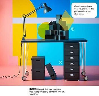 Promotion Ikea Helmer Caisson A Tiroirs Sur Roulettes Produit Maison Ikea Materiel Pour Bureau Et Pour L Ecole Valide Jusqua 4 Promobutler