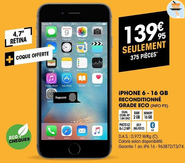 Iphone 6 Reconditionné Electro Depot