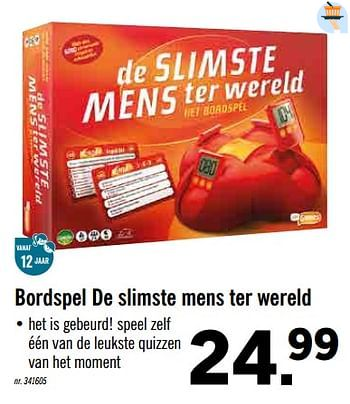 Lidl Promotie Bordspel De Slimste Mens Ter Wereld Just Games Speelgoed Geldig Tot 16 11 19 Promobutler