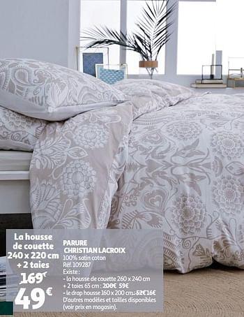 Promotion Auchan Ronq Housse De Couette Parure Christian Lacroix Christian Lacroix Menage Valide Jusqua 4 Promobutler